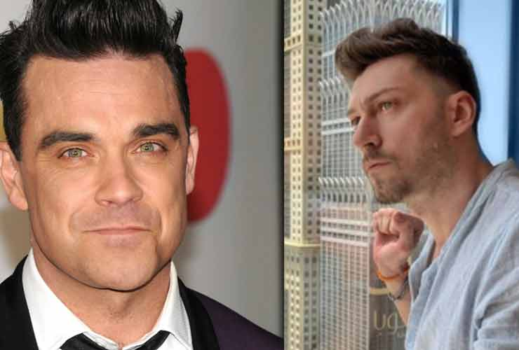 Simone Garato e Robbie Williams