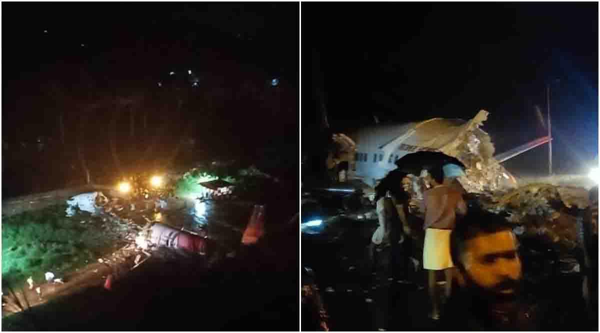 Aereo AirIndia finito fuori pista spezzato in due morti