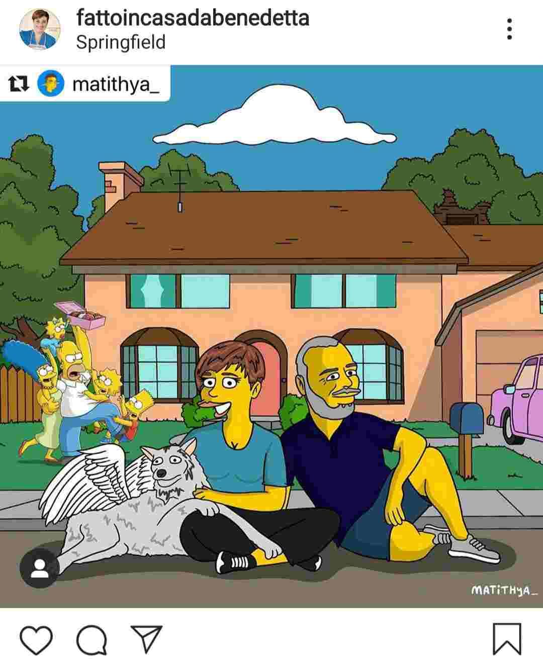 Benedetta Rossi in versione Simpson - Fonte Instagram