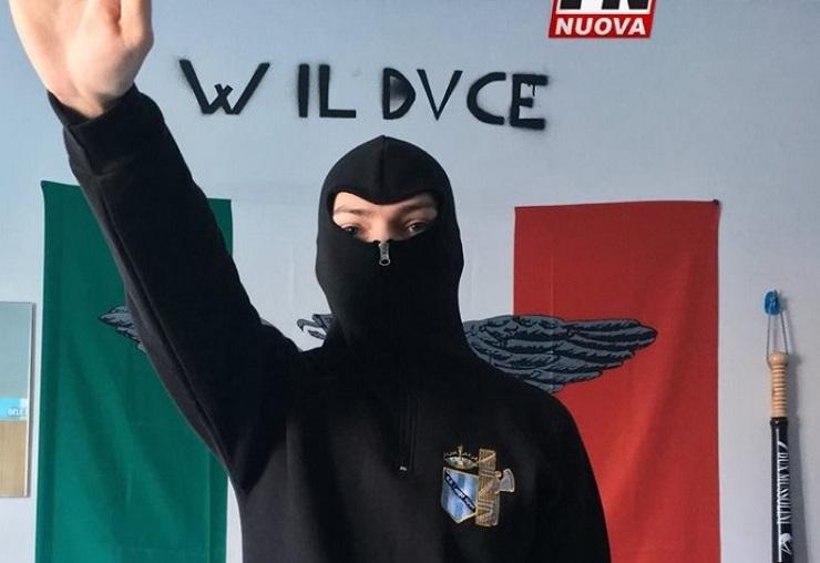 Cristian D'Adamo il candidato sindaco naziskin