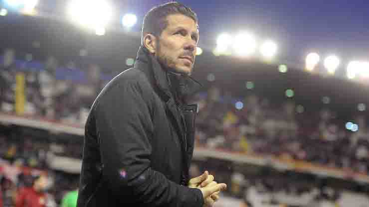 Diego Simeone allenatore Atletico Madrid annuncio di due tesserati positivi al Covid