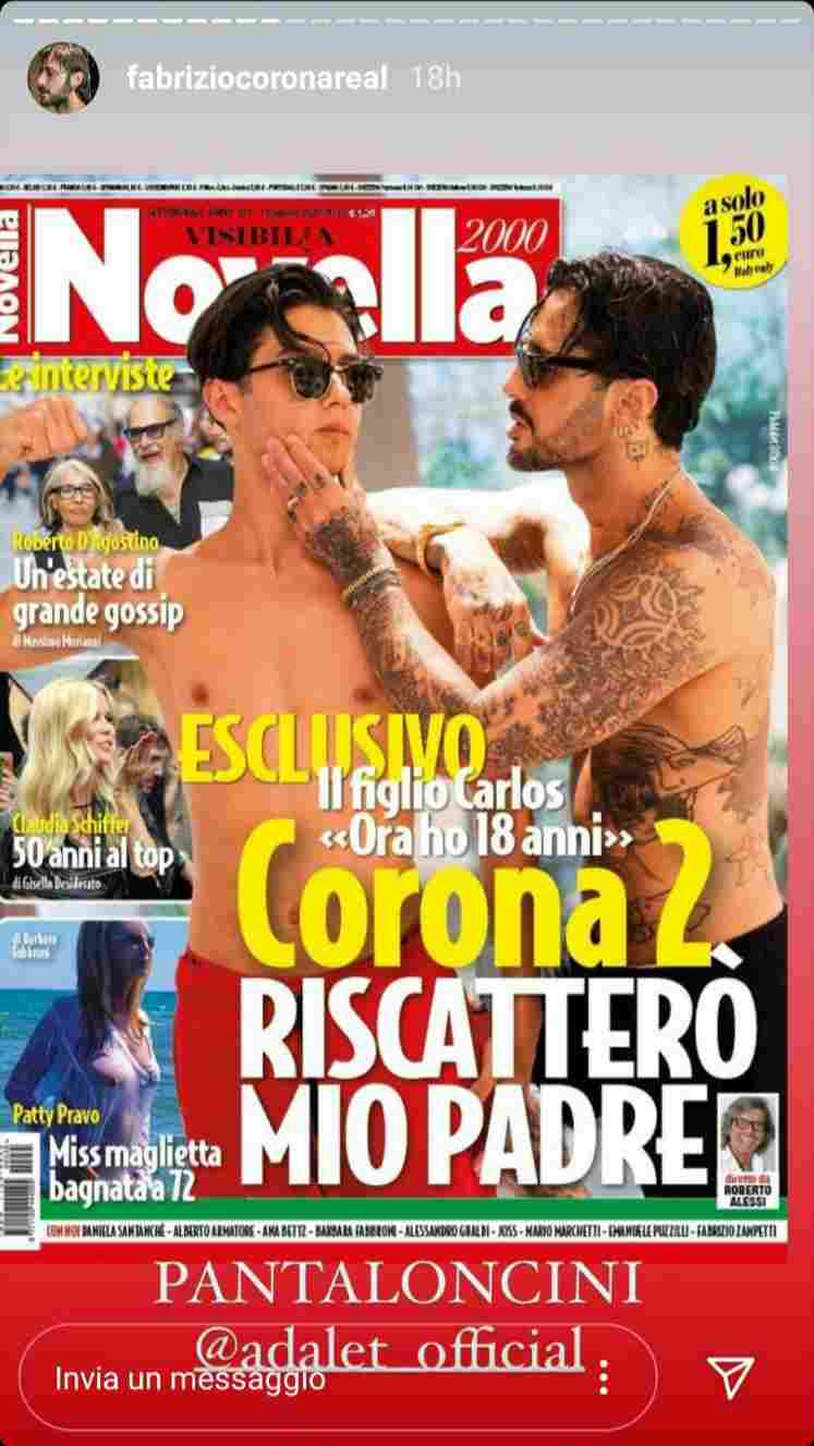 Fabrizio e Carlos Corona - Fonte Instagram