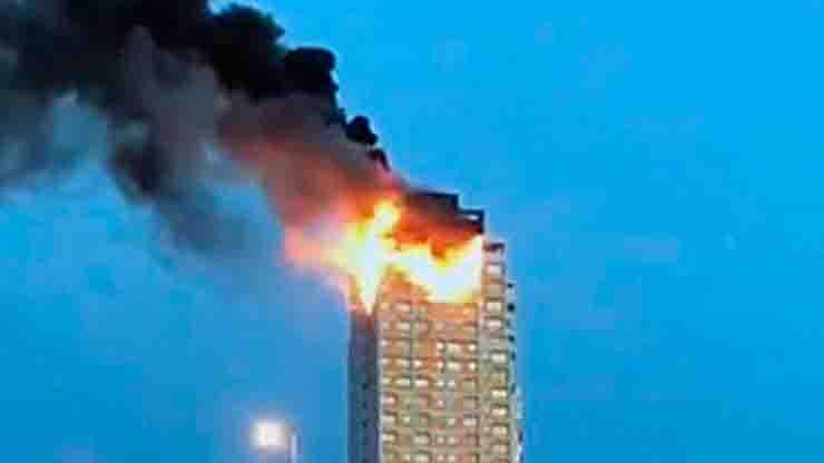 Incendio a Madrid va a fuoco grattacielo