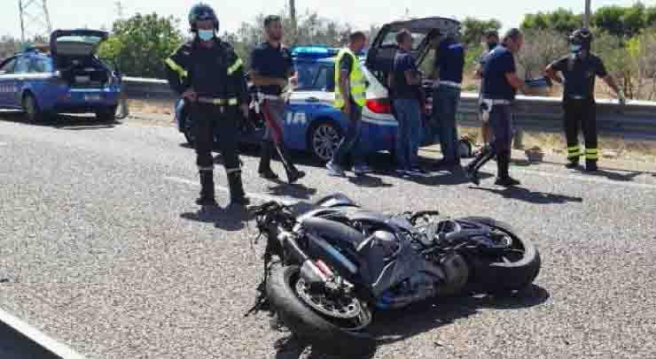 Paolo De Nuzzo incidente mortale moto