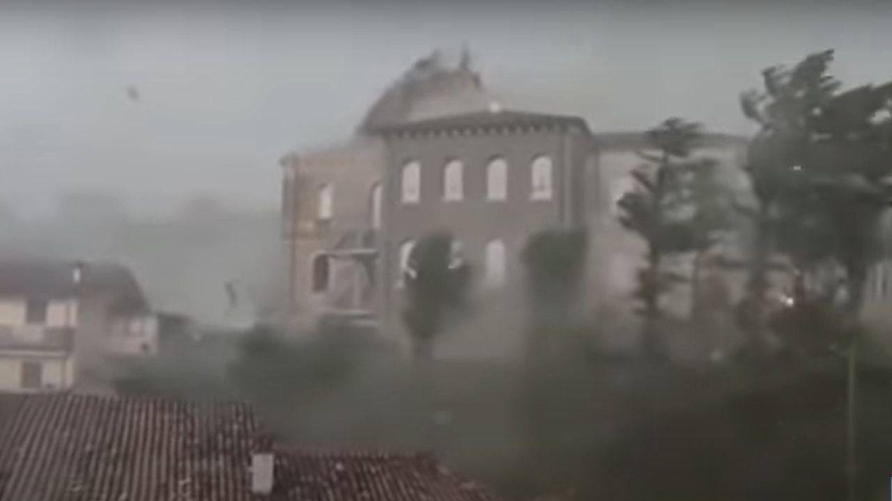 Verona tromba d'aria - tetto scoperchiato