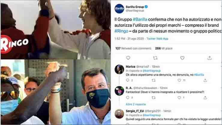 Salvini Barilla replica ringo spot