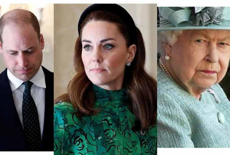 William, Kate e Regina Elisabetta