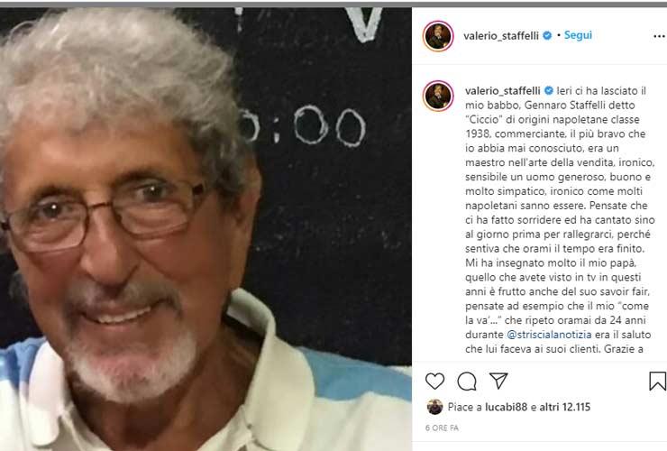 Grave lutto per Valerio Staffelli
