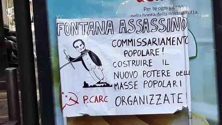 Cartello Fontana assassino