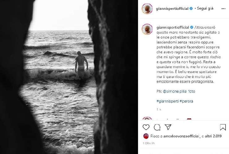 Gianni Sperti rimane senza respiro