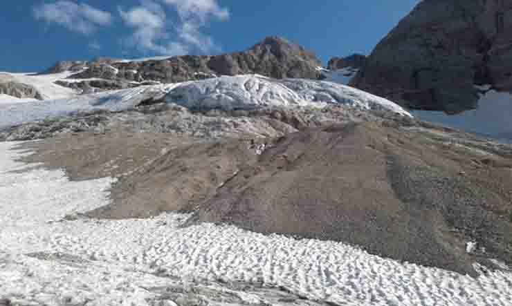 Al ghiacciaio della Marmolada non restano piu' di 15 anni di vita