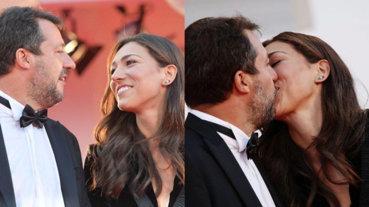 """Matteo Salvini con la fidanzata senza mascherine. Lui scherza: """"Ma siamo congiunti…"""""""
