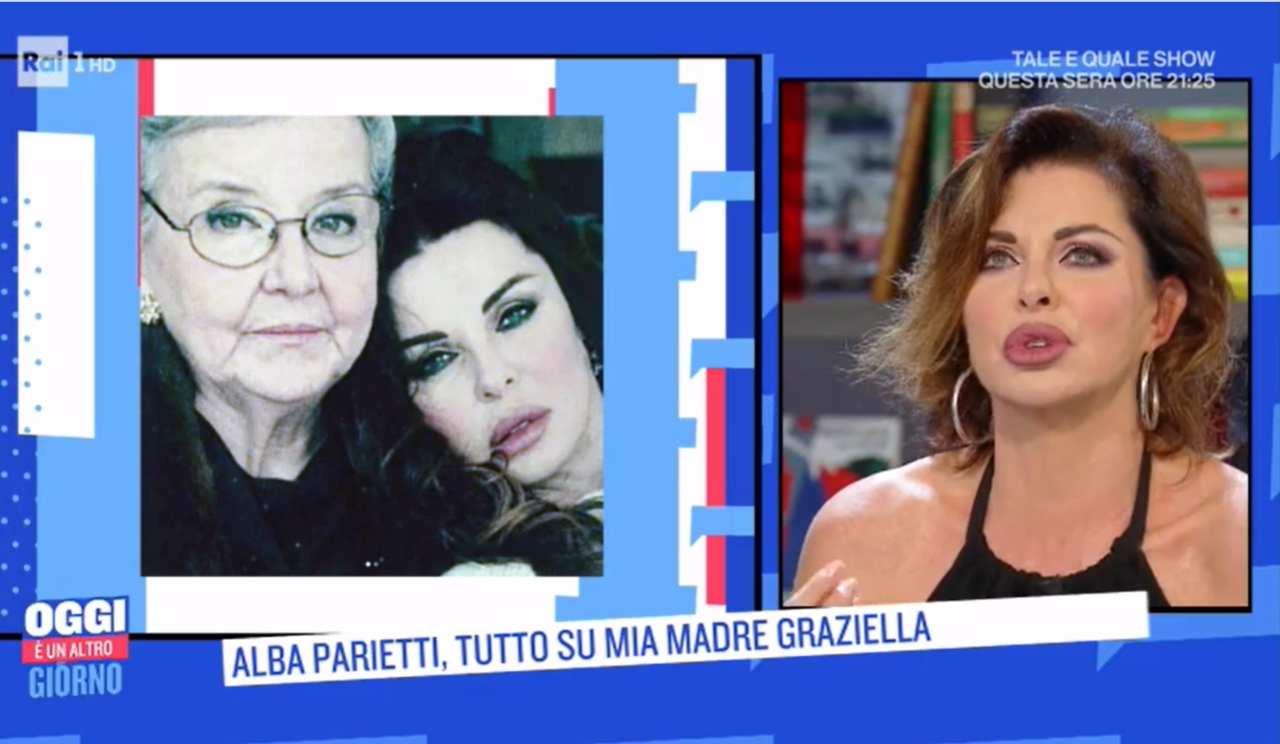 Alba Parietti la trageda a Oggi è un altro giorno | La malattia della mamma