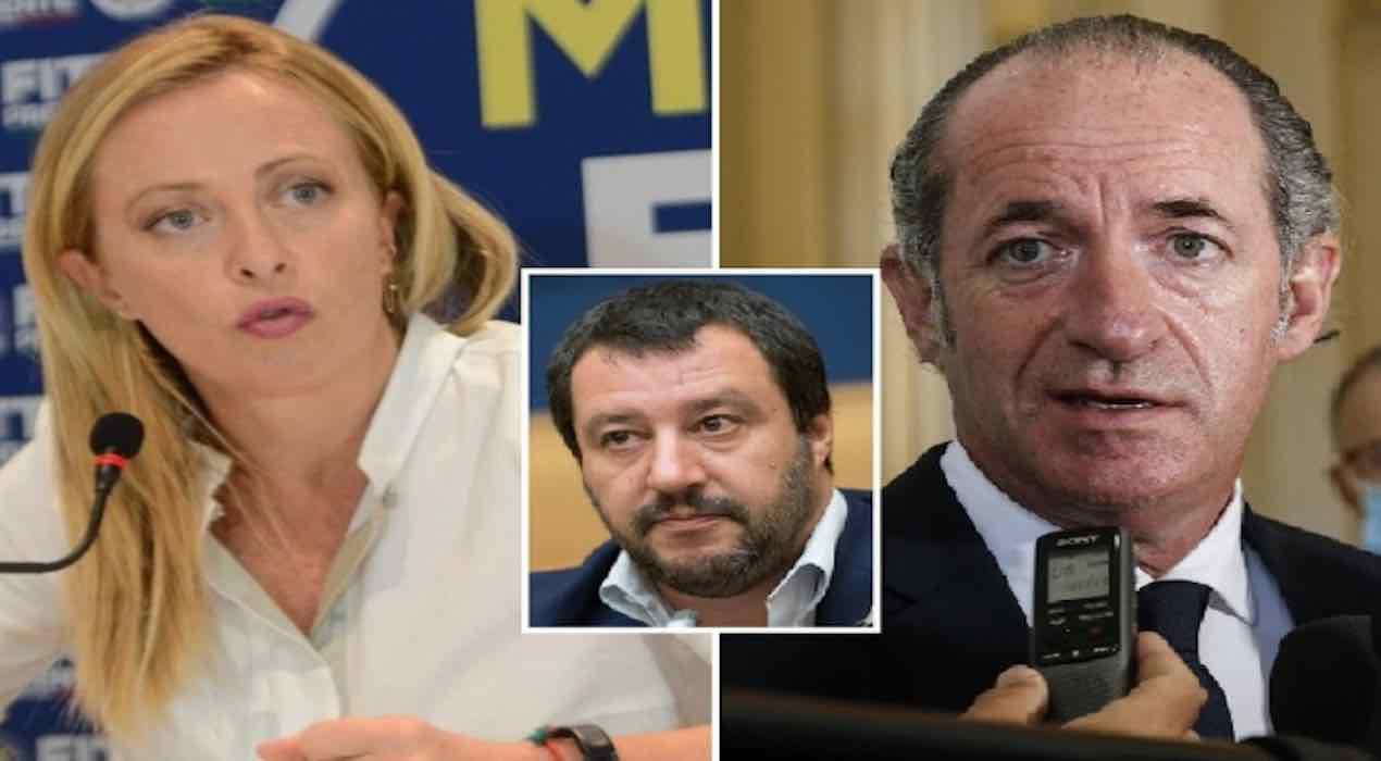 scontro nel centro destra per la leadership. Zaia stravince in Veneto