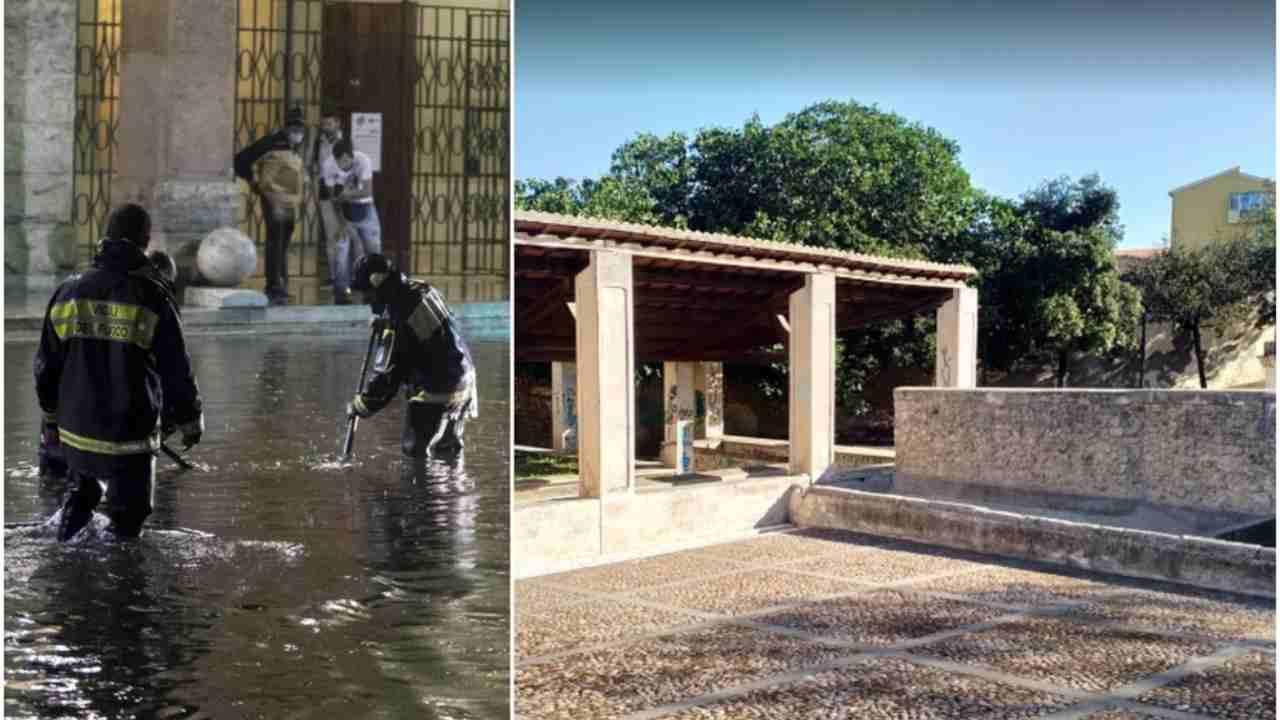 Sassari, bomba d'acqua: un uomo muore affogato nella fontana