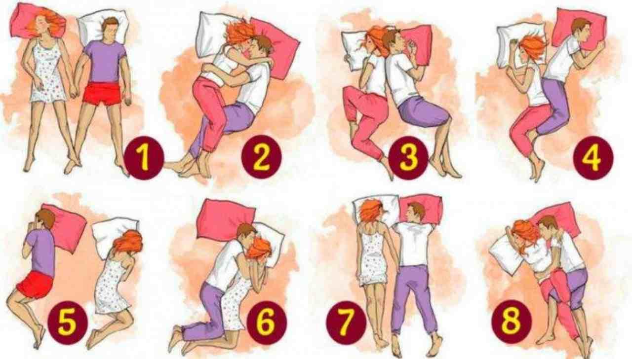 Test psicologico | Come dormi accanto al tuo partner? Scopri i significati