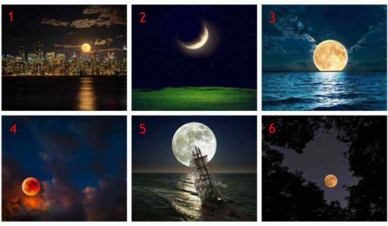 Test psicologico della luna | Scopri come vivi il romanticismo