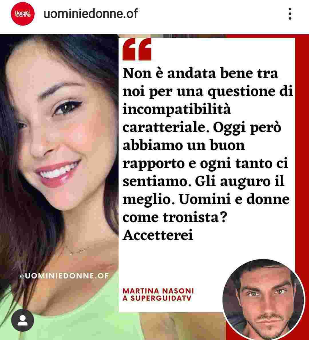Martina Nasoni e Daniele Dal Moro - Fonte Instagram