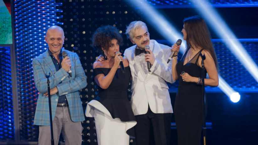Rosita con Alfonso Signorini, Morgan e Marcella - meteoweek