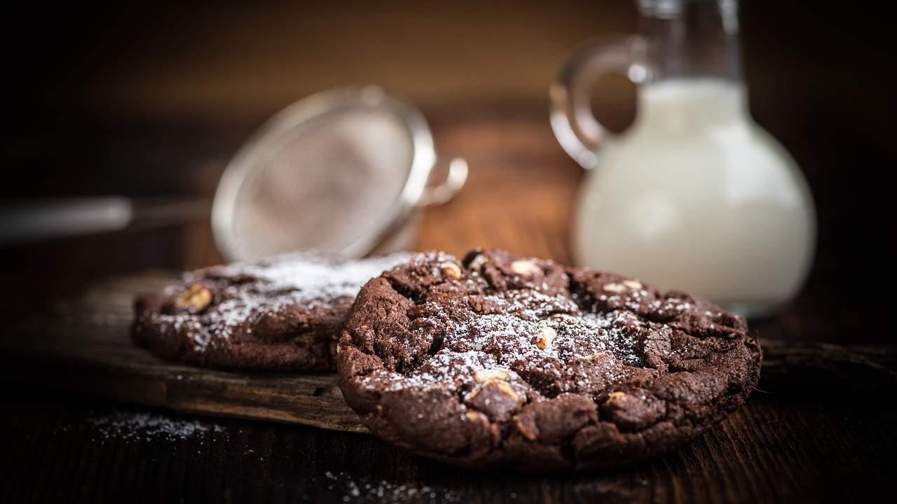 biscotti cookies cioccolato e noci