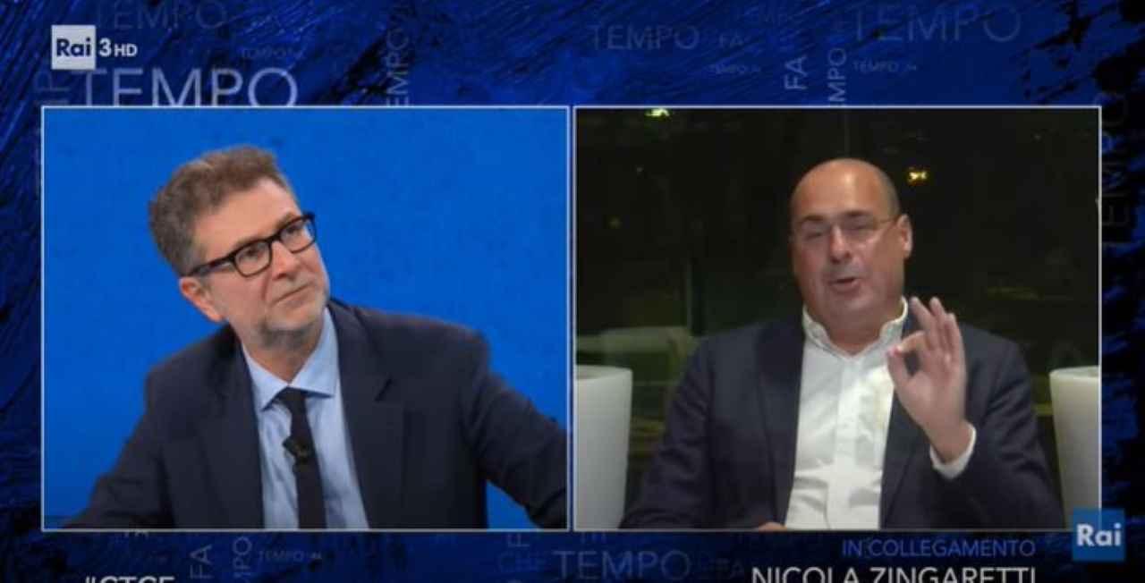 """Che tempo che fa, Zingaretti: """"Nessun rimpasto, sto bene dove sto"""""""