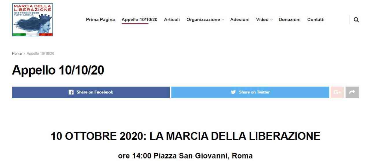 """Sovranisti a Roma, il 10 ottobre la """"Marcia della Liberazione"""""""