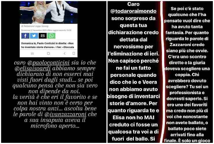 Botta e risposta tra Raimondo Todaro e Paolo Conticini