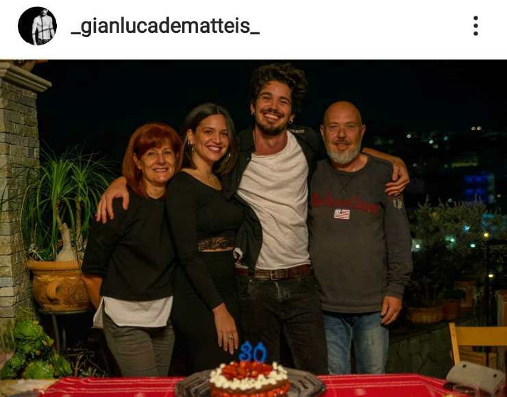 Gianluca De Matteis e la sua famiglia - Fonte Instagram