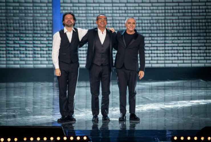 Giorgio con Leonardo Pieraccioni e Carlo Conti - meteoweek
