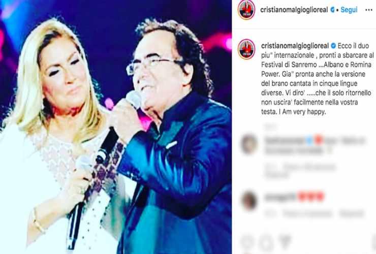 Il post di Cristiano Malgioglio - Fonte Instagram