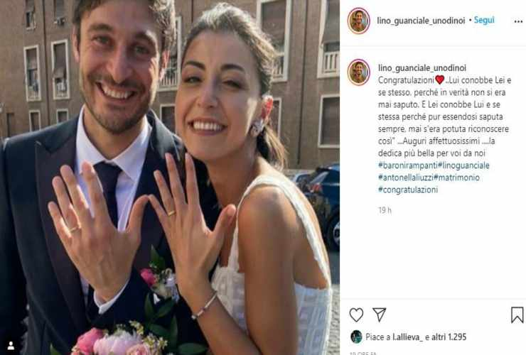 Lino e Antonella Liuzzi - Fonte Instagram