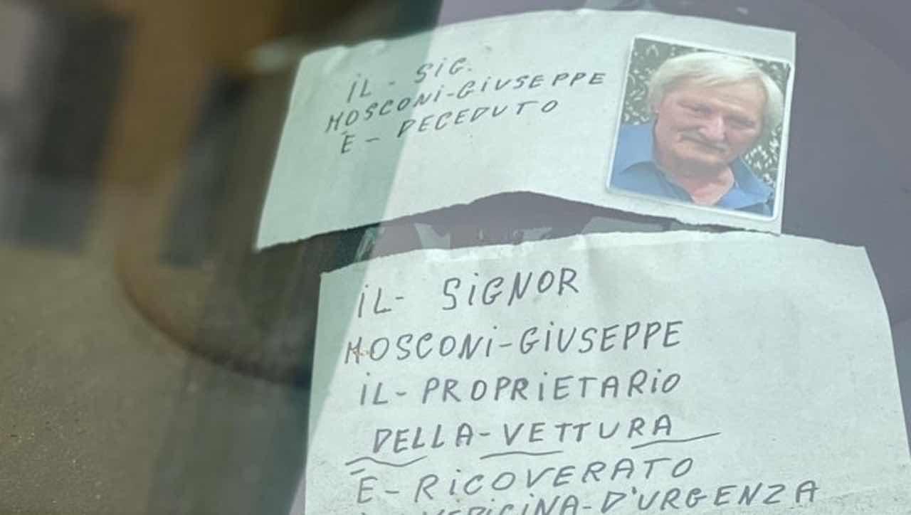 Piacenza, auto piena di multe ma lui è morto in ospedale