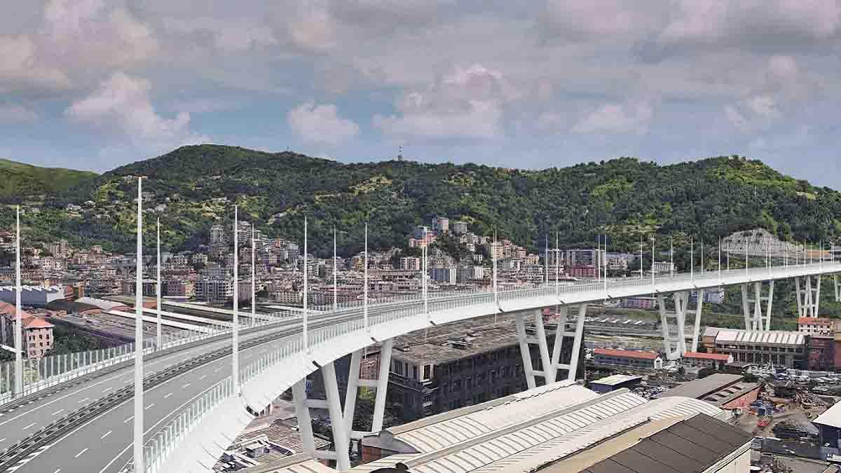 Ponte di Genova robot in azione
