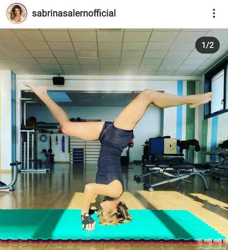 Sabrina si allena così - Fonte Instagram