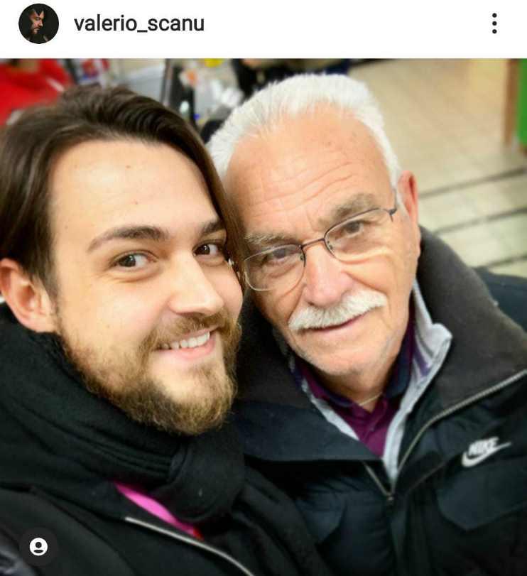 Valerio Scanu e il suo padrino di battesimo Filippo - Fonte Instagram