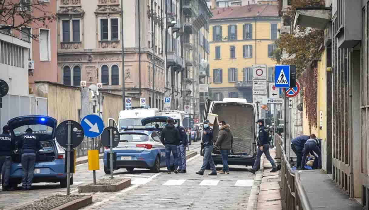 clochard investito a Milano