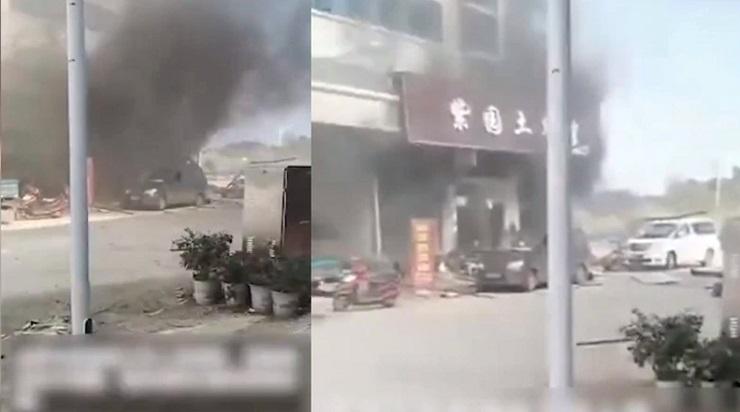 esplosione ristorante cina