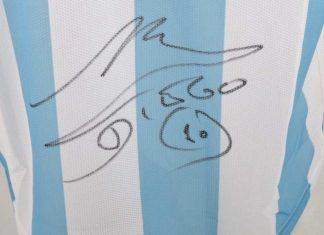 maglia maradona autografata meteoweek