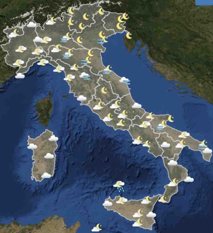 mappa Italia ore 18