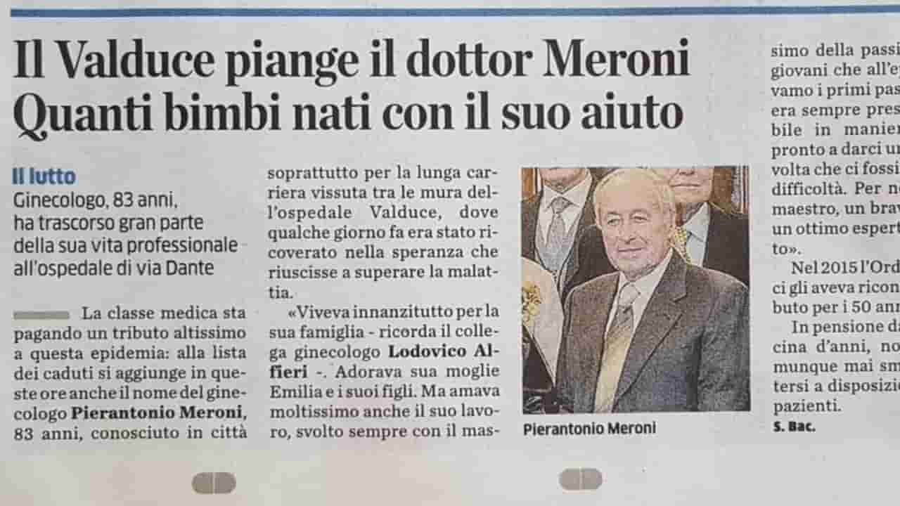 morto Pierantonio Meroni - meteoweek.com