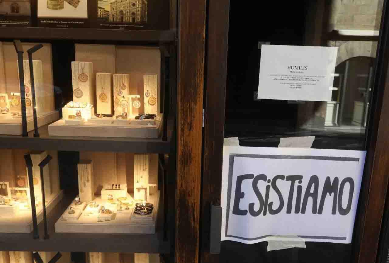 protesta Firenze commercianti