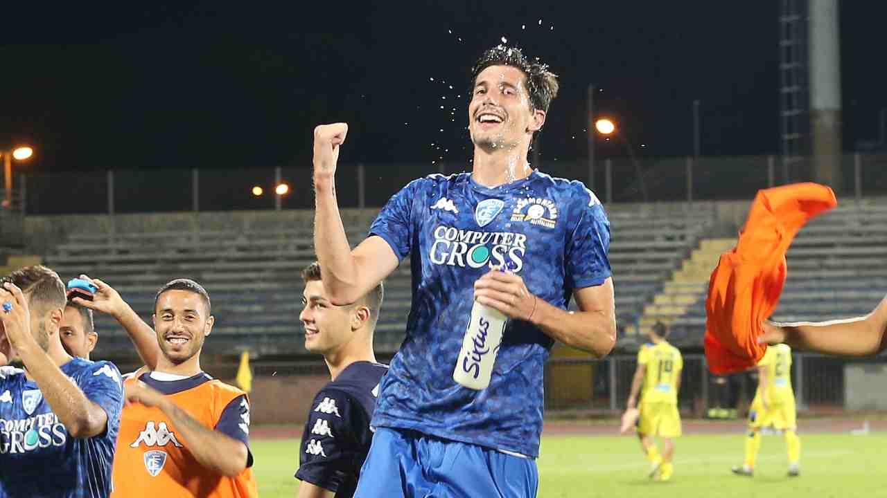 Empoli, Stefano Moreo in campo contro il Pescara, 18 agosto 2019 (foto di Gabriele Maltinti/Getty Images)