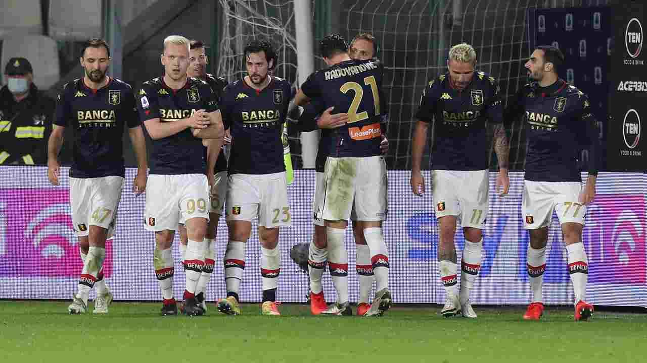 Genoa formazione Lazio
