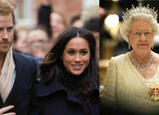 Harry e Meghan con la Regina Elisabetta - meteoweek