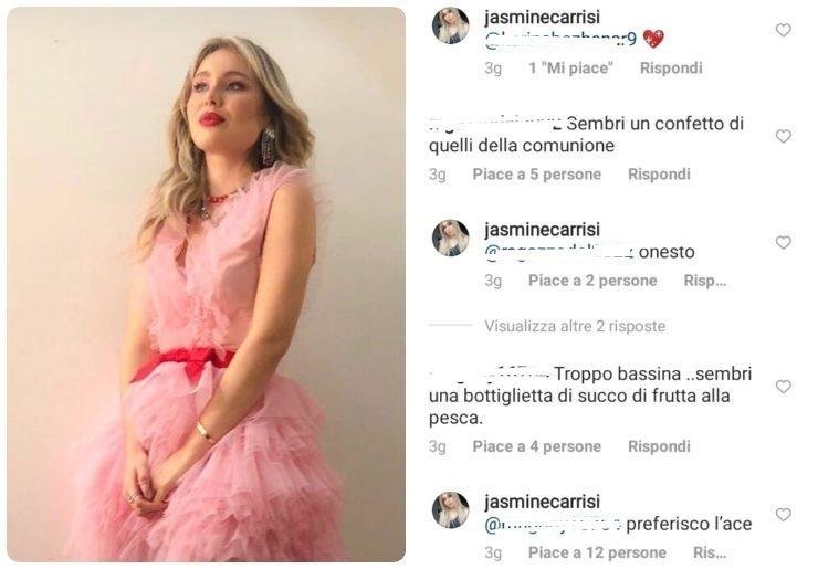 Jasmine Carrisi e il commento - Meteoweek