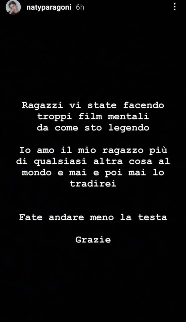 Le parole di Natalia - Fonte Instagram