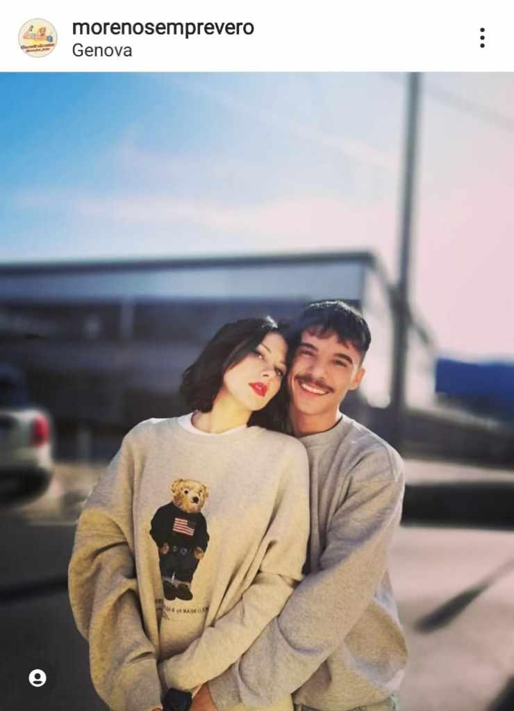 Moreno Donadoni con la fidanzata Monica - Fonte Instagram