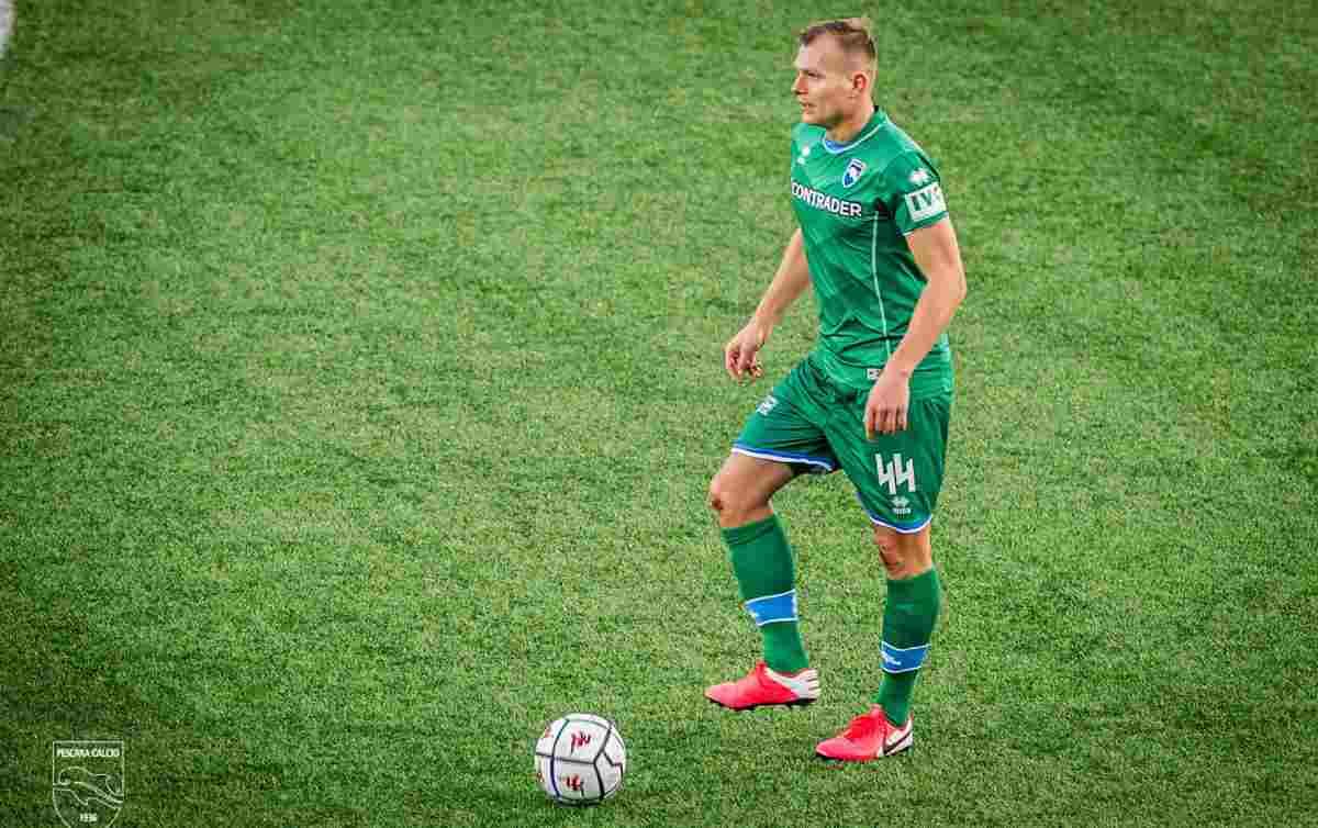 Pawel Jaroszynski nel match contro la Virtus Entella