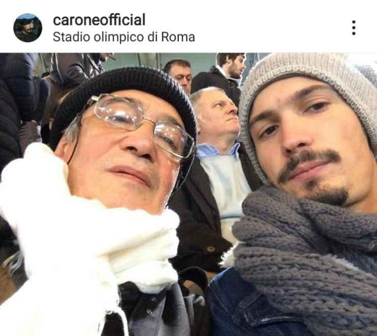 Pierdavide e suo padre - Fonte Instagram