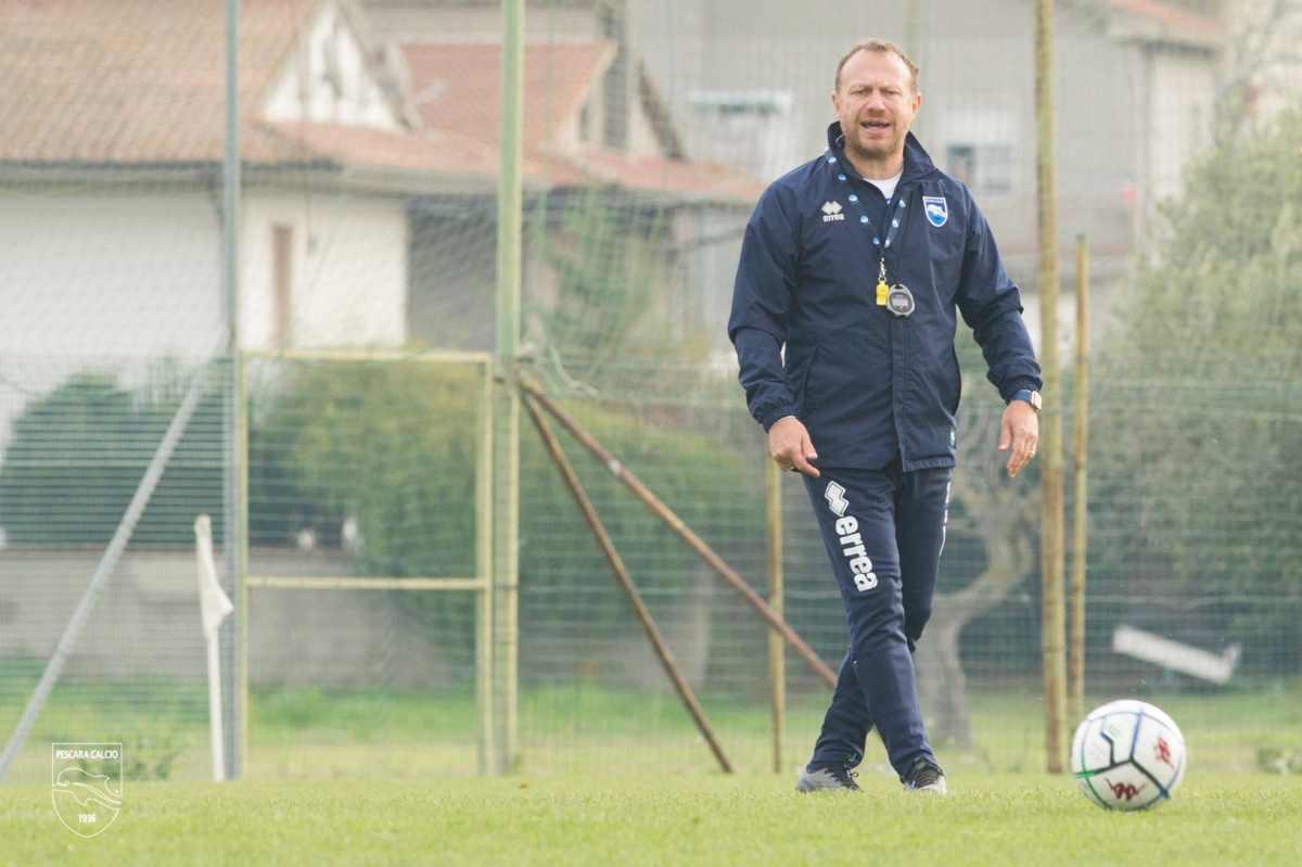 Roberto Breda durante una seduta di allenamento